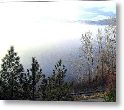 Fog On Wood Lake Metal Print by Will Borden
