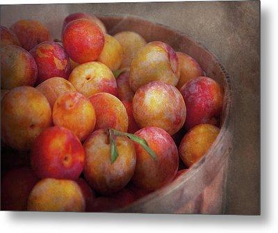 Food - Peaches - Farm Fresh Peaches  Metal Print by Mike Savad