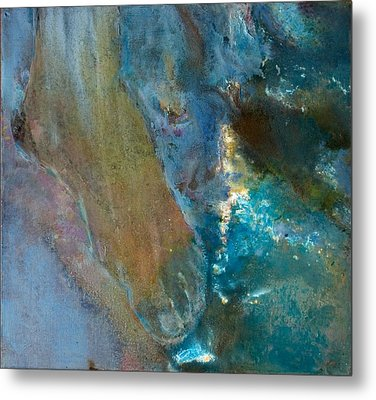 Foot Of Destiny Water Metal Print by Petro Bevza