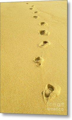 Foot Prints Metal Print by Carlos Caetano