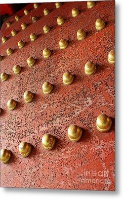 Forbidden City Door Metal Print by Carol Groenen