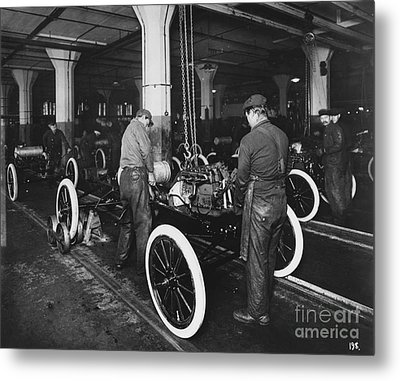 Ford Assembly Line Metal Print by Omikron