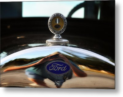 Ford Model T Hood Ornament Metal Print by Bill Cannon