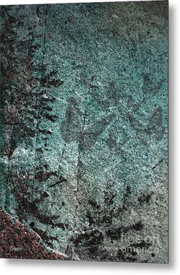 Forest Abstract Metal Print by Eena Bo
