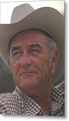 Former President Lyndon Johnson. Lbj Metal Print by Everett