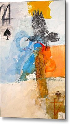 Four Of Spades 6-52  2nd Series Metal Print by Cliff Spohn