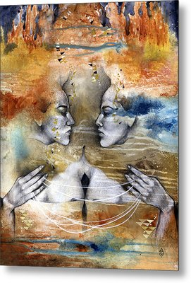 Fragmented Metal Print by Patricia Ariel