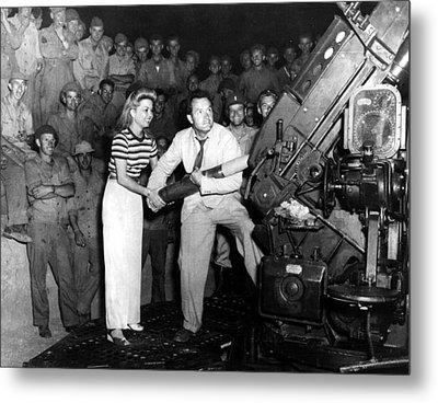 Frances Langford & Bob Hope Entertain Metal Print by Everett