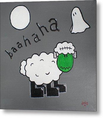 Frankenstein Metal Print by Sheep McTavish