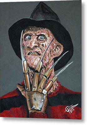 Freddy Kruger Metal Print by Tom Carlton
