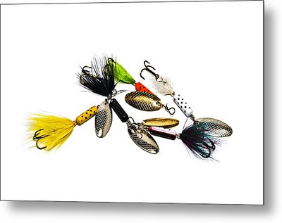 Metal Print featuring the photograph Freshwater Fishing Lures by Susan Leggett