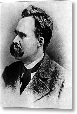 Friedrich Wilhelm Nietzsche, German Metal Print by Omikron