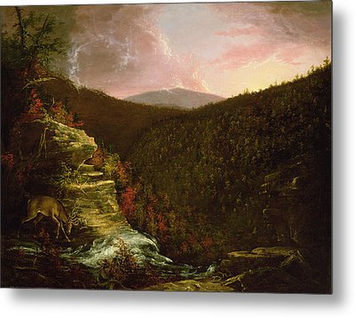 From The Top Of Kaaterskill Falls Metal Print by Thomas Cole