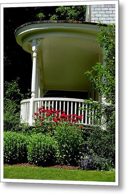Front Porch Of Millers House Metal Print by Frank Wickham