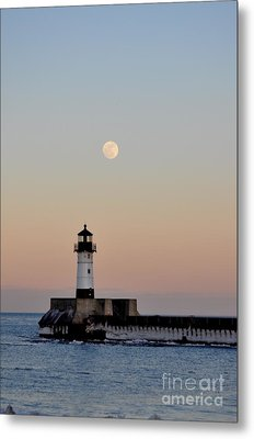 Full Moon Light Metal Print by Whispering Feather Gallery