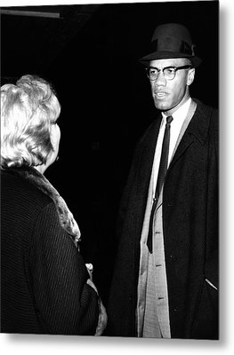 Funeral Of Malcolm X. Betty Little Metal Print by Everett