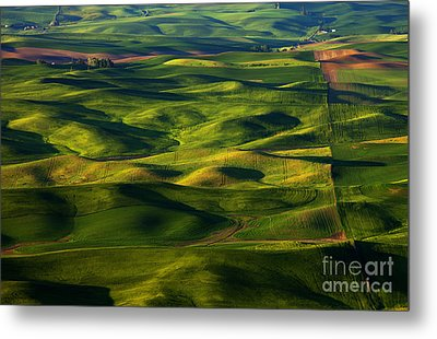 Furrows And Folds Metal Print by Mike  Dawson