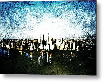 Future Skyline Metal Print by Andrea Barbieri
