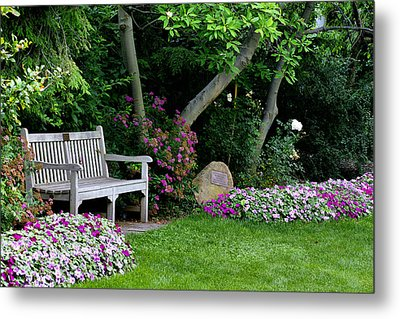 Metal Print featuring the photograph Garden Bench by Michelle Joseph-Long