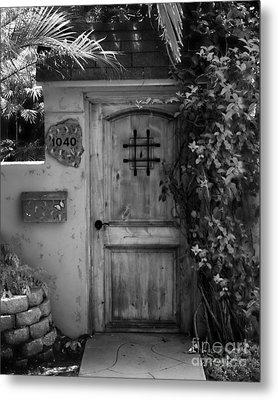 Garden Doorway 2 Metal Print by Perry Webster