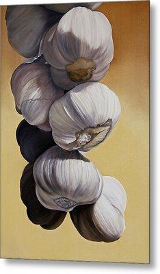 Garlic Still Life Metal Print by Matthew Bates