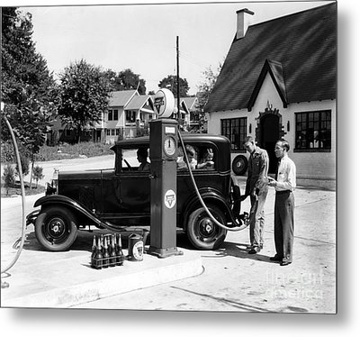 Gas Station Metal Print by Photo Researchers