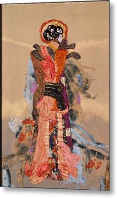 Geisha Metal Print by Roberta Baker