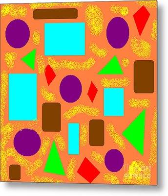 Geometric Abstract- Orange Metal Print by Jeannie Atwater Jordan Allen