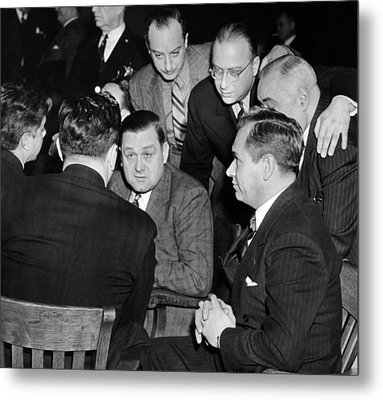 George Bugs Moran On Trial For Forgery Metal Print by Everett