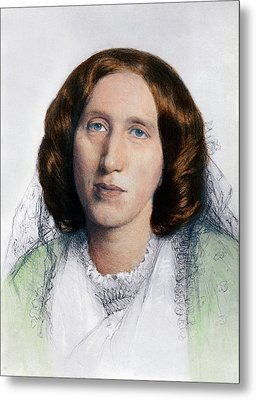 George Eliot 1819-1880 Was Born Mary Metal Print by Everett