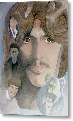 George Harrison Give Me Love Give Me Hope Metal Print by Christian Lebraux Kennedy