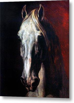 Gericault: White Horse Metal Print by Granger