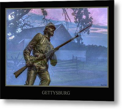 Gettysburg Battlefield Poster Metal Print by Randy Steele