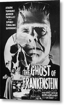 Ghost Of Frankenstein Metal Print by Granger