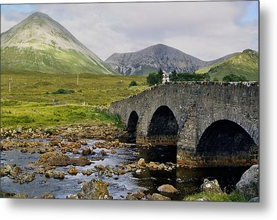 Glamaig And Sligachan Bridge Metal Print
