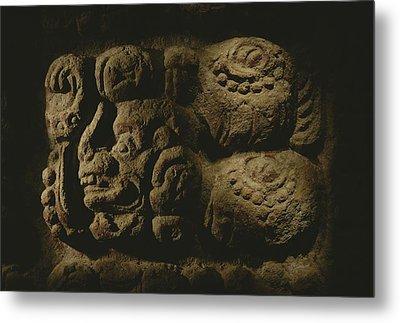 Glyph Representing The Mayan Rulers Metal Print by Kenneth Garrett