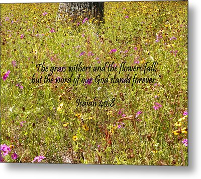 Gods Word Stands Forever Metal Print by Sheri McLeroy