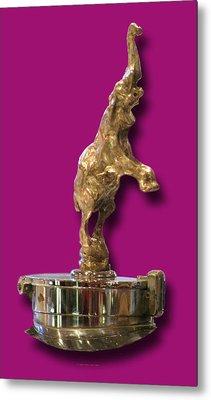 Gold Buggatti Mascot Metal Print by Jack Pumphrey