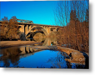 Gold Hill Bridges Metal Print by Jim Adams