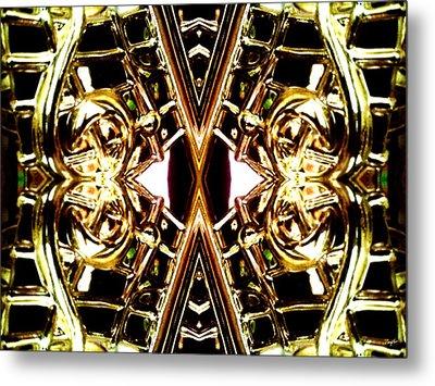 Golden Harmony Metal Print by Rom Galicia