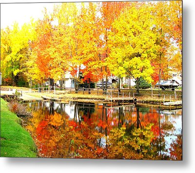 Golden Marina Metal Print
