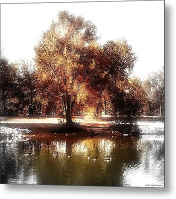 Golden Meadow Metal Print by Michelle Frizzell-Thompson