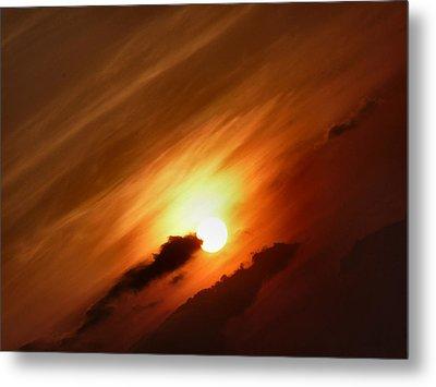 Golden Sunset Metal Print by Debra Collins