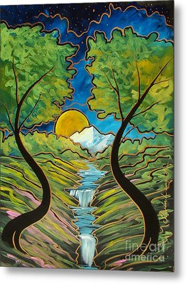 Metal Print featuring the painting Good Morning Earth by Steven Lebron Langston