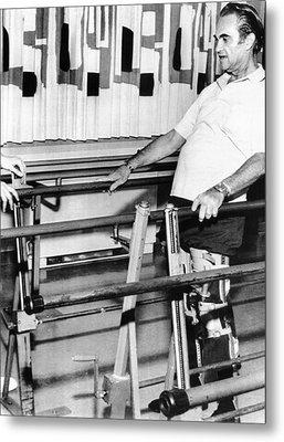 Gov. George Wallace Walks Metal Print by Everett