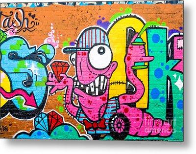 Graffiti Spray-worm Metal Print by Yurix Sardinelly