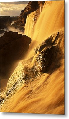 Grand Falls Of The Little Colorado Metal Print by Ralph Lee Hopkins