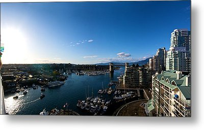 Metal Print featuring the photograph Grandville Island In Yaletown Bc by JM Photography