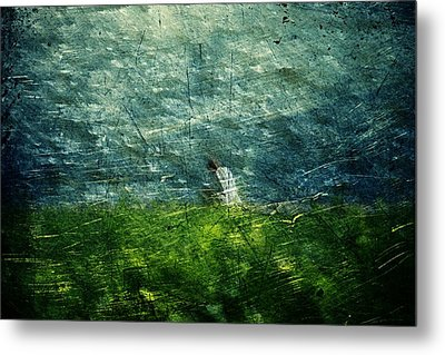 Grassy Metal Print by Andrea Barbieri