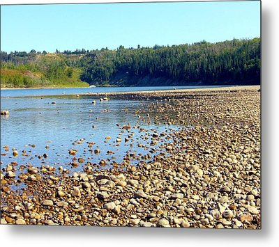 Metal Print featuring the photograph Gravel Bar On The North Saskatchewan River by Jim Sauchyn